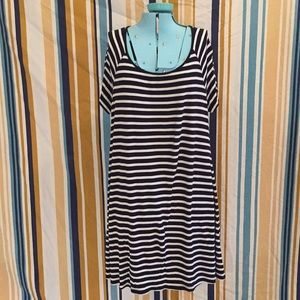 Navy Blue Stripe Old Navy Dress